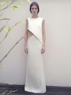This dress is a gorgeous blend of architecture and fashion | #saltstudionyc