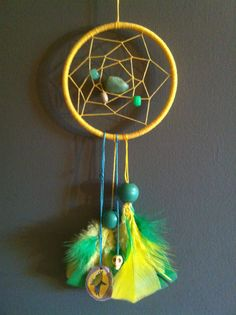 Bring yellow, deer antler carved with an eagle and turquoise in the middle. Golden Eagle, Deer Antlers, Dreamcatchers, Middle, Carving, Turquoise, Yellow, Artwork, Crafts