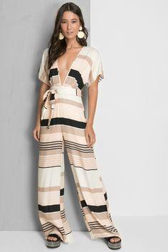 Dress to Macacão listra domingo - Shop