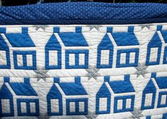 blue and white house #quilt