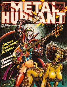 Metal Hurlant #22 cover, 1978