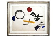 #Abstract #watercolor painting by Jacques Nestle (1907-1993) France, circa 1970