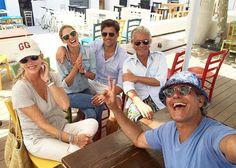 Olivia Palermo & Johannes Huebl with friends