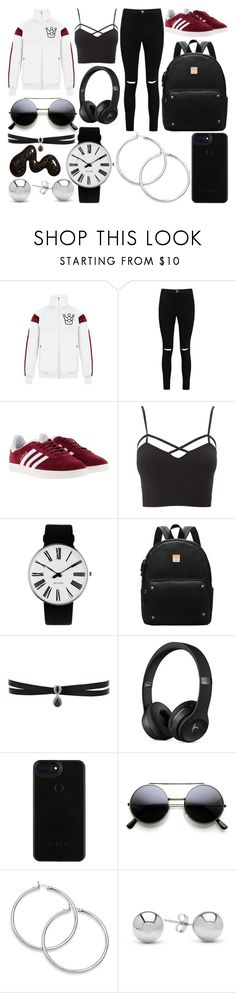 """School Day"" by susanna-trad on Polyvore featuring Boohoo, adidas, Charlotte Russe, Rosendahl, Fallon, Jewelonfire and plus size clothing"