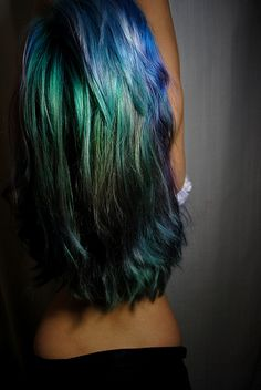 Mermaid Hair... Makes me want to keep my long-ish hair and do this for the summer...