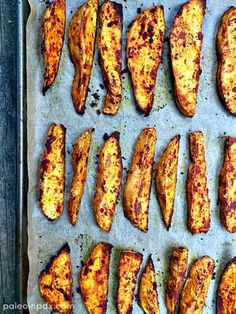 Smoky Roasted Sweet Potato Wedges | roasted vegetables | easy side dish | healthy eating | healthy carbs | paleo | gluten-free | dairy-free | grain-free | baked sweet potato wedges | easy recipe | real food | side dish recipe
