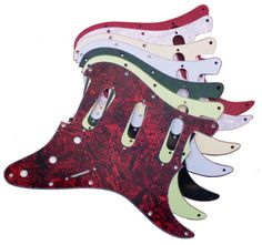 Northwest Guitars - Stratocaster Scratchplate Pickguard - Will fit Genuine Fender Guitars, £12.99 (http://www.northwestguitars.co.uk/stratocaster-scratchplate-pickguard-will-fit-genuine-fender-guitars/)