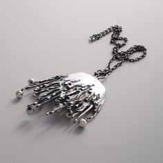 "Pentti Sarpaneva ""Silver Icicles"" Necklace. Finland, c. 1970."