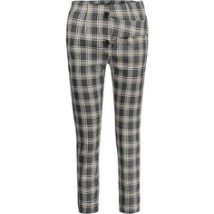 Back Faux Pocket Checked Capri Pants ($26) ❤ liked on Polyvore featuring pants, capris, capri trousers, checkered pants, checked pants, checked trousers and checkerboard pants