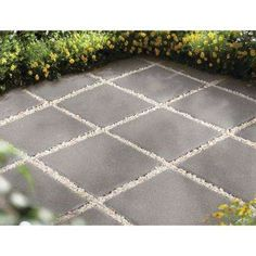 12 in. x 12 in. Pewter Square Concrete Step - The Home Depot Hinterhof Landschaftsbau Betonpflastersteine 12 in. x 12 in. Pewter Square Concrete Step - The Home Depot Concrete Patios, Concrete Steps, Concrete Walkway, Backyard Patio Designs, Diy Patio, Backyard Landscaping, Landscaping Ideas, Pavers Ideas, Front Entry Landscaping