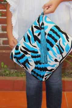 Otomi Black and Turquoise Clutch Vegan by CasaOtomi on Etsy  Mexico, Tenango, mexican wedding, textile, mexican suzani, suzani, embroidery, hand embroidered, otomi, www.casaotomi.com, otomi, table runner, fiber art, mexican, handmade, original, authetic, textile , mexico casa, mexican decor, mexican interior, frida, kahlo, mexican folk,  folk art, mexican house, mexican home, puebla collection, las flores, travel tote, boho, tote, handbag, purse, cushion, serape