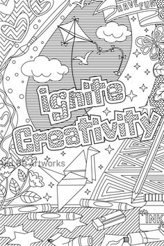 Ignite creativity coloring page #ricldp #coloring