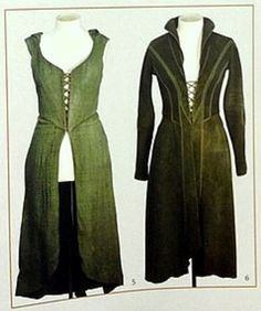 Overdress and underdress... the hoodie one has a detachable skirt according to Weta Chronicles: Cloaks and Daggers.
