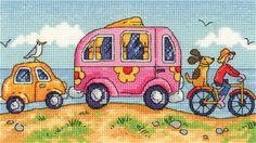 Are We There Yet ? (BSTY1272) New range of  'By The Sea' cross stitch kits designed by Karen Carter for Heritage Crafts.  Contents: 14 count or 27 count evenweave fabric, cotton threads, chart, needle and full instructions. Size: 20cm x 11cm *Please allow upto 7 working days for dispatch*