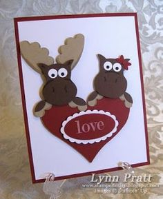 Stampin' Up Owl Punch by Lynn Pratt at Stamp-n-Design: Lovie Birthday Mooses @ Home Ideas and Designs Owl Punch Cards, Paper Punch Art, Valentine Love Cards, Owl Card, Stamping Up Cards, Kids Cards, Baby Cards, Creative Cards, Cute Cards