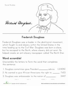 Printables Second Grade History Worksheets king jr black history month and civil rights leaders on pinterest second grade worksheets historical heroes frederick douglass