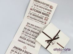 Convite Efeito e Arte - Modelo Personalizado. Pedidos e Orçamentos? Mande um e-mail para: contato@efeitoearte.com.br