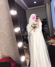 Beauty muslim bride # pee nikab nikap nikabis kapal ar af hicab hijab tesettr gelin d n wedding Wedding Abaya, Malay Wedding Dress, Muslimah Wedding Dress, Muslim Wedding Dresses, Wedding Gowns With Sleeves, Muslim Brides, Long Sleeve Wedding, Bridal Dresses, Wedding Outfits