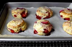 strawberry and cream biscuits: I hope there are still strawberries around when we get back from Seattle!