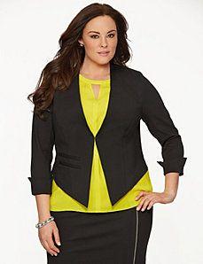 Lane Collection ponte tux jacket - or unbuttoned