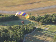 Powered parachute over the Sebastian Golf Course.