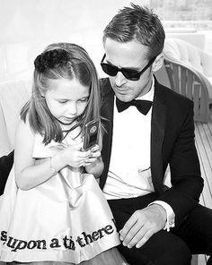 He's good wth kids too....Ryan Gosling aka perfection