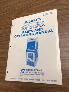 Midway Galaxian arcade game parts and operating manual Free Shipping - http://collectibles.goshoppins.com/arcade-jukeboxes-pinball/midway-galaxian-arcade-game-parts-and-operating-manual-free-shipping/