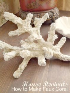 House Revivals: How to Make Faux Coral houserevivals.blo… KV Creative Designs House Revivals: How to Make Faux Coral houserevivals. Seashell Crafts, Beach Crafts, Diy And Crafts, Paper Crafts, Sea Life Crafts, Ocean Themes, Beach Themes, Under The Sea Party, Sea Theme