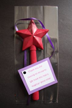 $2 - Fairy or Princess wand made out of recycled crayons. Wand is 7 & 1/2 inches long - super cute party favor