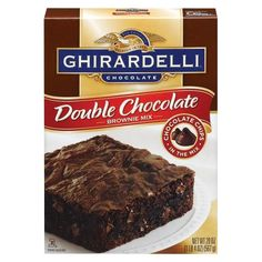 Ghirardelli Double Chocolate Brownie Mix 2015 These have to be the best brownies ever. Next time, try them with Mounds candy bars chopped up in them. Double Chocolate Brownies, Ghirardelli Chocolate, Chocolate Mix, Decadent Chocolate, Chocolate Chips, Cookie Dough Cake, Chocolate Chip Cookie Dough, Best Brownie Mix, Brownie Bites