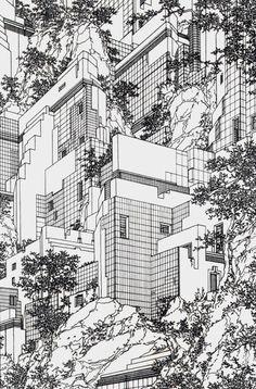 Lebbeus Woods' 1979 'Houses' and 'Architecture-Sculpture-Painting' series Lebbeus Woods, Sculpture Painting, Architecture Drawings, Architecture Diagrams, Architecture Portfolio, Art Moderne, Urban Sketching, Art Graphique, Grafik Design