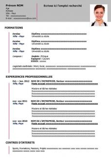 Exemple De Cv A Remplir Gratuit Au Format Word Cv Word Free Resume Template Word Teacher Resume Template Free Printable Resume Templates