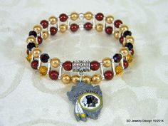 NFL Washington Redskins Charm Stretch by SDJewelryDesign16 on Etsy, $25.00