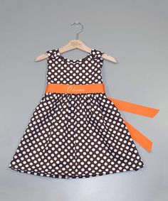 This Brown Personalized A-Line Dress - Infant, Toddler & Girls by Princess Linens is perfect! #zulilyfinds