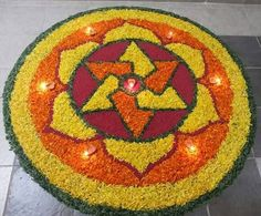 Here are some very beautiful flower rangoli designs for Diwali, Onam, Pongal, and Durga puja. Flower rangoli are easy to make and very gorgeous to look at. Rangoli Designs Latest, Simple Rangoli Designs Images, Rangoli Designs Flower, Rangoli Ideas, Colorful Rangoli Designs, Rangoli Designs Diwali, Flower Rangoli, Beautiful Rangoli Designs, Kolam Designs