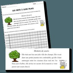 Jeux d'écriture – Inversion de mots – Remettre les mots à leur place CE2 | la… Cycle 3, Comprehension, Inversion, Classroom, Teacher, Writing, Education, Math, School