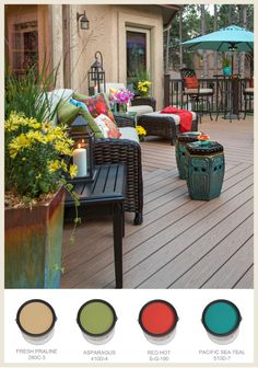 Get inspired to add some color accents to your outdoor spaces in this gallery with BEHR Paint numbers from Colorfully BEHR.