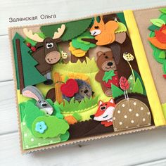 Diy Quiet Books, Felt Quiet Books, Toddler Books, Toddler Gifts, Quiet Time Boxes, Sensory Book, Animal Books, Busy Book, Handmade Toys