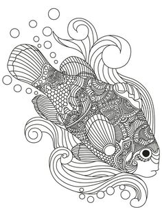 Coloring Pages Aquariums Fish Colouring Printable Tanks Books Sheets