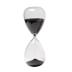 30 Minute Sand Hourglass - Black (20.32cm).
