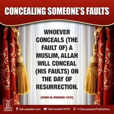Conceal someones imperpections and mistakes and Allah s.t will conceal yours. Allah u akbar Hadith Quotes, Hindi Quotes, Saw Quotes, Life Quotes, Islamic Inspirational Quotes, Islamic Quotes, Islamic Posters, Hadith Of The Day, Love In Islam