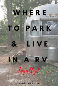 mytinyhousedirectory: Where to Park and Live in a RV– legally!