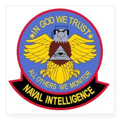 Shop US NAVAL INTELLIGENCE Milit Square Sticker x designed by Lots of different size and color combinations to choose from.