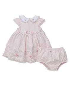 eaf06e746cf7 Shop our Whimsical Blooms Rosette Dress and Panty Set at LittleMe.com Baby  Boutique Clothing