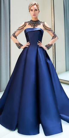 Wedding Dresses Ball Gown, Fashionable Tulle & Satin Illusion High Collar A-line Formal Dress With Beadings MagBridal Elegant Prom Dresses, Blue Wedding Dresses, Cheap Wedding Dress, Stunning Dresses, Beautiful Gowns, Bridal Dresses, Formal Dresses, A Line Dress Formal, Ball Dresses