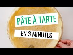 Pâte à tarte en 3 minutes Pie dough in 3 minutes, the easy, fast and inratable recipe! No Bake Snacks, Quick Snacks, Quick Easy Meals, Pie Dough Recipe, Pie Crust Recipes, Easy Eclair Recipe, Baby Food Recipes, Snack Recipes, Easy Pie Crust