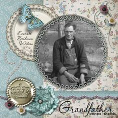 Grandfather...interesting circular framing. Additionally, the soft colors are a great contrast to the photo -