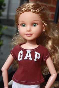 Maroon T for BFC Ink Brand Dolls by LostinaJungle on Etsy