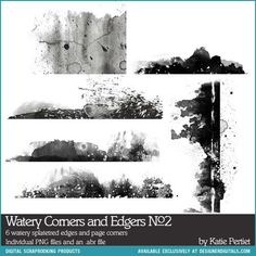Watery Corners and Edgers Brushes and Stamps No. 02