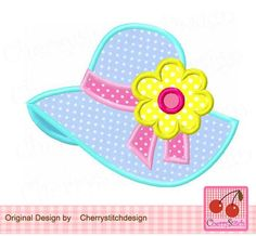 Sunbonnet Summer hat Sunhat Summer Digital Embroidery applique inch-Machine Embroidery Applique Design by CherryStitchDesign on Etsy Baby Embroidery, Machine Embroidery Applique, Applique Patterns, Applique Quilts, Applique Designs, Quilting Designs, Quilt Patterns, Beach Quilt, Applique Tutorial